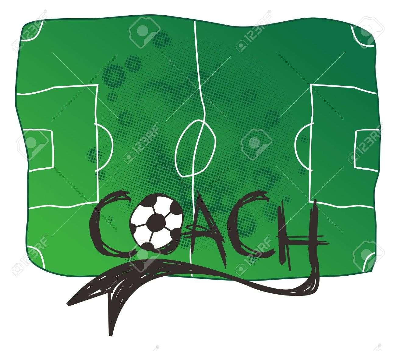 16395270 soccer coach Stock Vector