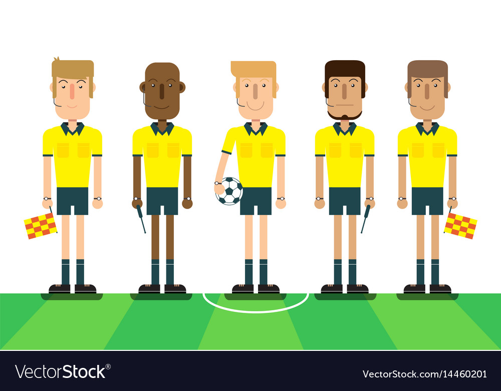 soccer referees on white background vector 14460201
